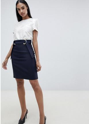 Стильная темно-синяя юбка карандаш vesper