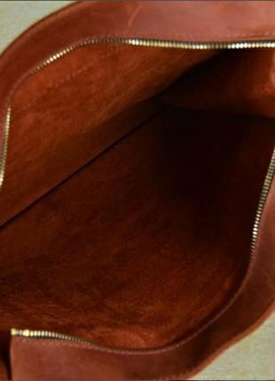 Шикарная сумка шопер кожа crazy horse!4 фото