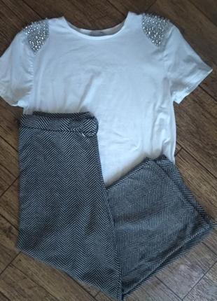 Крутые трикотажные брюки кюлоты от zara
