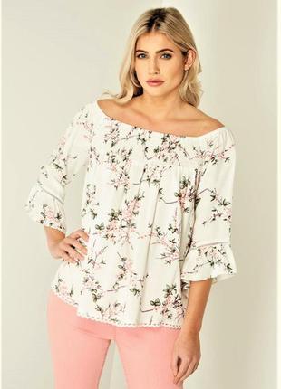 Нежная блуза в цветочный принт roman.