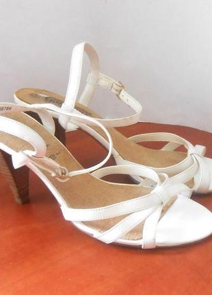Фирменные белые босоножки new look, свадебные, р.38 код s3810