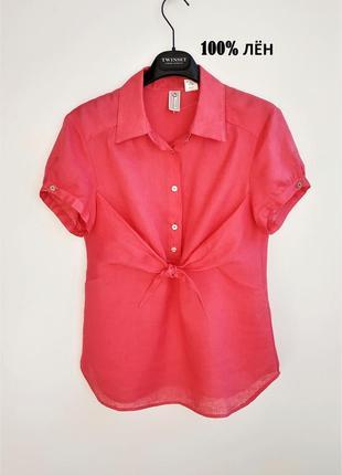 100% лен. брендовая оригинальная рубашка из тонкого льна murphy&nye.