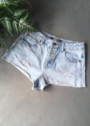Стильні джинсові шорти з високою посадкою від pull&bear 😍