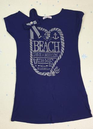 Туника - платье - футболка miss blumarine  размер 10 лет