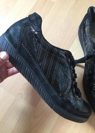 Кожаные кроссовки мокасины rieker