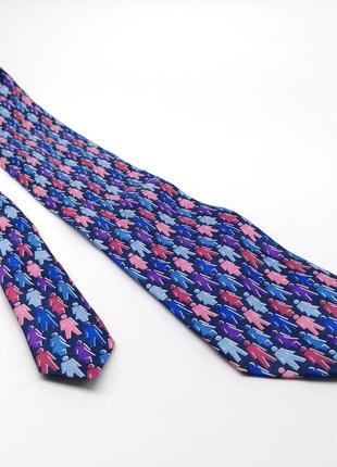 Галстук фирменный, шелковый tie rack, италия