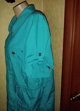 Натуральный летний пиджак сафари батал (46-48)