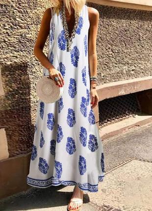 Супер платье (в пол) вискоза 50-52 размер оверсайз