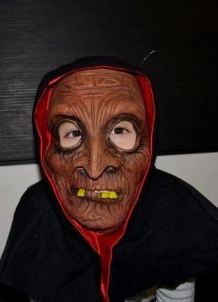 Фирменная карнавальная маска ведьмы на хеллоуин и не только с капором
