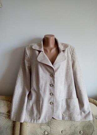 Летний натуральный, коллекционный пиджак, р. 24-26