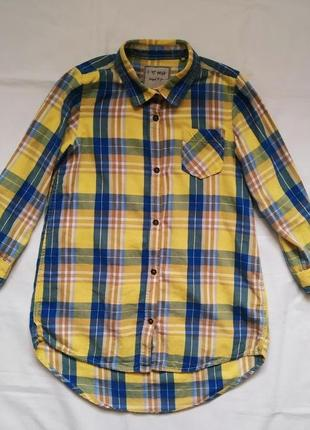 Удлиненная рубашка туника в клетку next ( 5 лет )