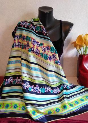Натуральный шелк гладкий платок, armine, роуль, 90*88