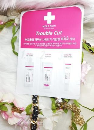 Пробник трех средств (тоник, крем, точечный крем) missha near skin trouble cut