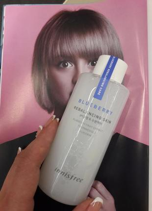 Тонер innisfree blueberry rebalancing skin