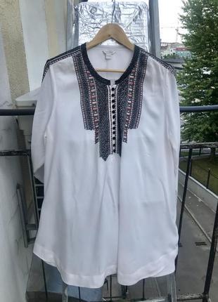 Блуза  вышиванка очень красивая 56-58  monsoon