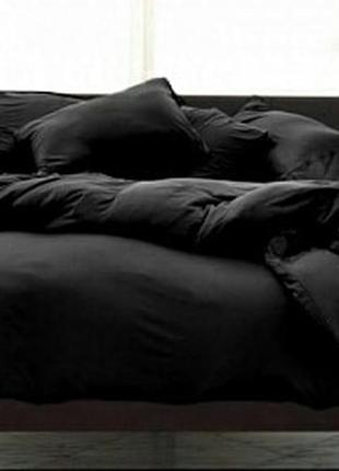 Чорний комплект постільної білизни