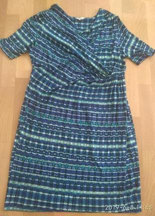 Шикарное летнее платье, размер 22