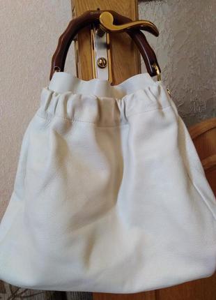 Брендовая сумка miu miu wooden handle tote (оригинал), цена -50%, 230€