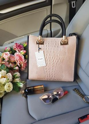 Замшевая сумка fiori