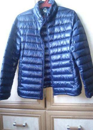 Стёганая сверхлёгкая пуховая куртка пуховик мужской