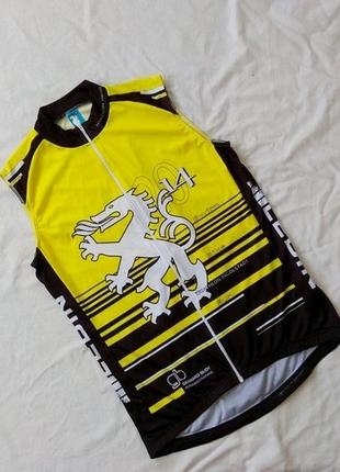 Велосипедная кофта, s-m, жилетка велосипедисту, вело - жилет, безрукавка, дракон