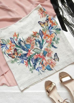 Милая летняя юбка в цветочный принт