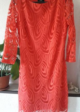 Женское кружевное нарядное вечернее платье wallis 12 14 повседневное коктейльное
