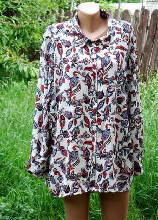 Xxxl летняя рубашка туника шифон.