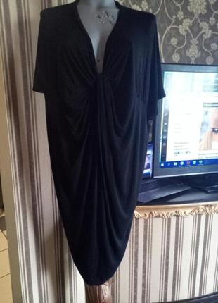 Финальная распродажа!платье-баллон, с перекрутом,миди