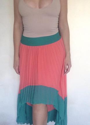 Удлиненная юбка гофре