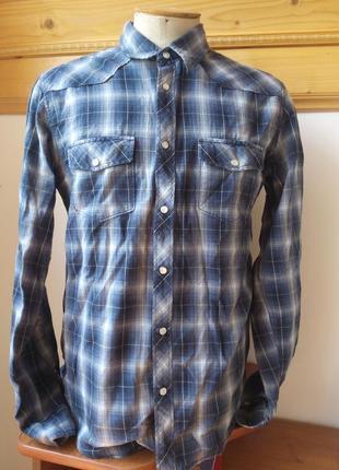 Рубашку клетка синий розмір-39-42