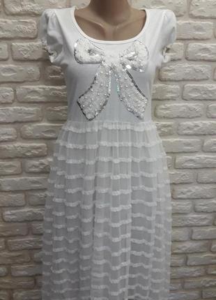 Сарафан платье с фатином ( сетка).