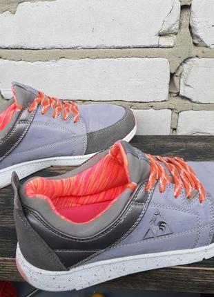 Кроссовки женские le coq sportif 37 ( 23.5 см.) кросівки, серый персик