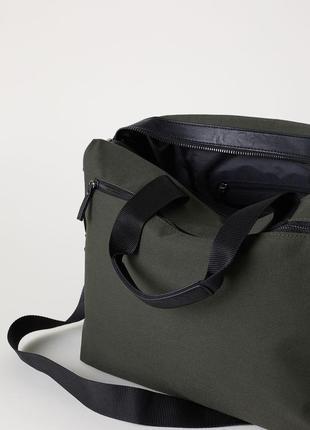 Большая холщовая сумка h&m ! дорожная