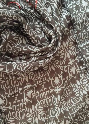 Шикарный большой шарф палантин платок massimo dutti