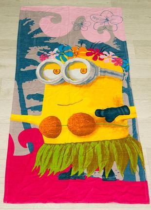 Полотенце пляжное миньоны