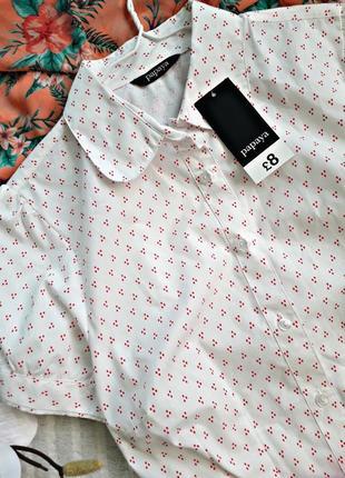 Нарядная блуза в розовый горошек papaya3 фото