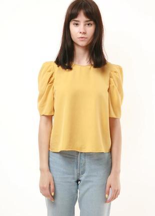 Редкая стильная рубашка блузка кроп топ oversized zara 646