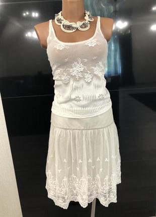 Кружевная юбка на хлопковой подкладе