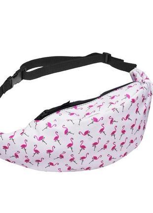 Есть другие варианты! модная бананка, барыжка, сумка на пояс, поясная сумка фламинго