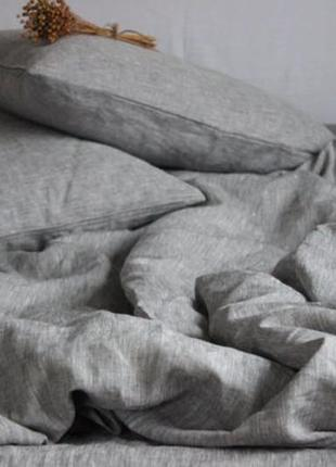 Небеленый натуральный лен 100 % - льняное постельное белье4 фото