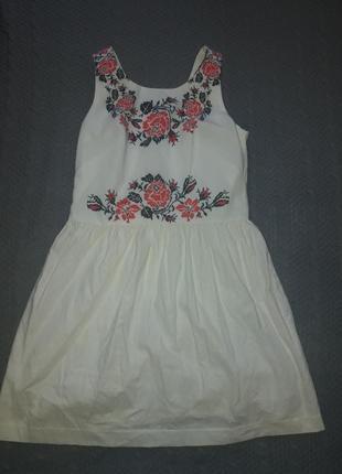 Льняное летнее платье nenka