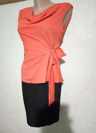 Ліквідація залишків!яскрава помаранчeва блуза