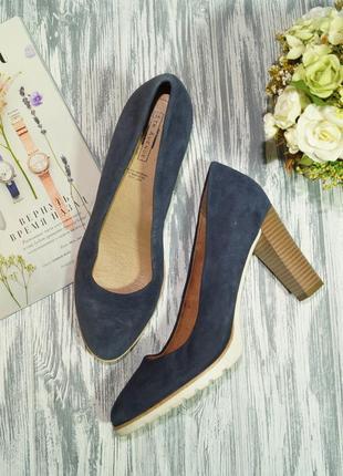 5th avenue. замша. красивые туфли на устойчивом каблуке