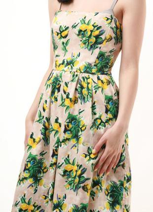 Редкое стильное летнее цветочное мини платье zara  679