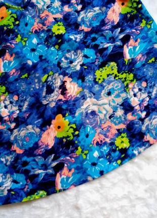 Красивая блуза в акварельный принт - цветы размер 14 (44-46)4 фото