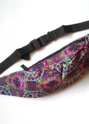 Новая модная бананка, барыжка, сумка на пояс, поясная сумка винтаж этно8 фото