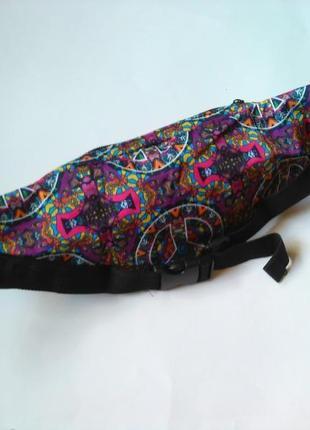 Новая модная бананка, барыжка, сумка на пояс, поясная сумка винтаж этно9 фото