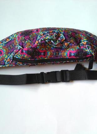 Новая модная бананка, барыжка, сумка на пояс, поясная сумка винтаж этно7 фото