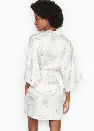 Короткий сатиновый халат-кимоно victoria's secret! размер  m/l 10300